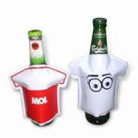 China Bottle Coolers in T-shirt Design, Made of PVC, Non-toxic, Portable, Reusable and Easy to Use wholesale