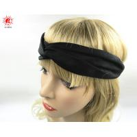 China Polyester Fabrics beautiful toddler Elastic Fabric Headband / Hair Wrap For Black Women on sale