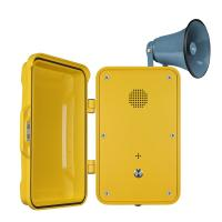 China Impact Resistant Industrial Weatherproof Telephone Equipped With Horn And Lamp wholesale