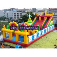 Buy cheap Funny Outdoor Inflatable Amusement Park With Slide / Castle And Climb from wholesalers