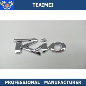 China Custom Car Logos Self Adhesive Body Sticker Car Auto Emblem ABS Chrome Finishing wholesale