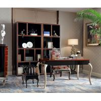 China Luxury Furniture Home office Bookcase cabient and Writing desk in Ebony wood glossy painting with Office chairs wholesale