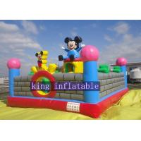 Buy cheap Lovely Mickey Kids Inflatable Amusement Park For Jumping Fun 0.45mm - 0.55mm PVC from wholesalers