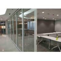 China Office Frameless Glass Wall , Aluminum Interior Glass Partitions Sliding wholesale