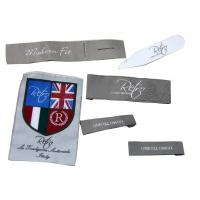China Customized Clothing Woven Labels,Iron On Personalized Garment Label on sale