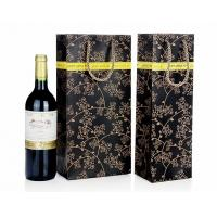 China Wine Bottle Gift Bags , Retail Shopping Bags For Grape Wine Packaging on sale