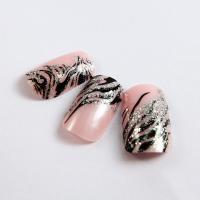 Plastic Diamond Nail Art Fake Nails Fashion glitter for little girls