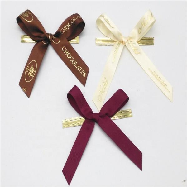 Quality Colored Small Ribbon Bows 100% Polyester Material Handmade Artworks for sale
