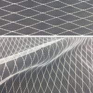 China 20D nylon lace diamond Mesh cloth for women