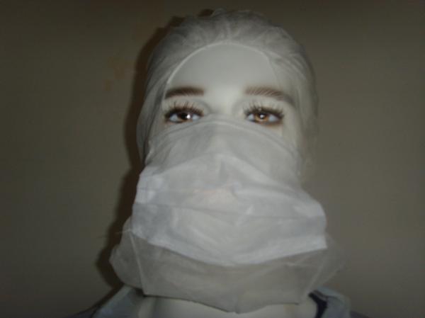 Quality Non Woven Disposable Head Cap Balaclava Hood For Hospital Breathable for sale