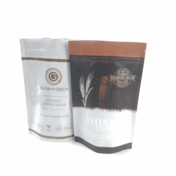Quality Zip Lock Plastic Pouches Packaging Aluminum Foil Coffee Bags Gravnre Printing for sale