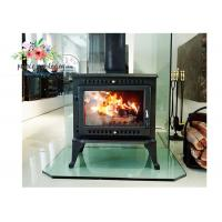 China Environmental Promotional Free Standing Polished Cast Iron Fireplace 12KW wholesale