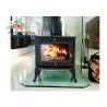 China Environmental Promotional Free Standing Polished Cast Iron Fireplace 12KW wholesale
