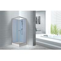 China Fitness Halls 800 X 800 X 2250mm Glass Shower Stalls With Silver Aluminum Frame wholesale