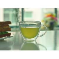 China Double Walled Glass Tea Cups With Handle Heat Resistant Borosilicate Glass on sale