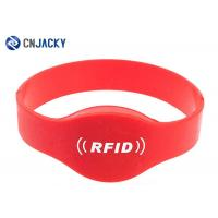 Buy cheap Reusable Silicone NFC RFID Wristband Waterproof , RFID Bracelet For Events / Swimming Pool / SPA Hotel from wholesalers