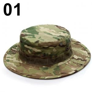 China Military Camouflage Boonie Bucket Hats Army Hunting Outdoor Hiking Fisherman Cap wholesale