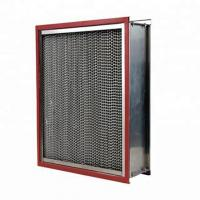 China Clean Room High Temperature Air Filter Ventilate System Use With Aluminum Pleated wholesale