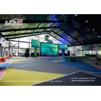 China High Safety Sports Team Tent Canopy Hard Sidewall Double - Wing Glass Door wholesale
