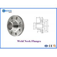 China MONEL 400 Weld Neck Pipe Flanges , ASME B16.5 RF FF RTJ Weld Neck Flange on sale