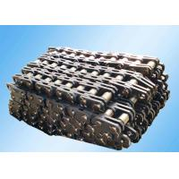 China Steel Leaf Industrial Conveyor Chain Slat Type High Strength Bright Surface on sale