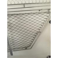 China Anti Corrosive 304 Stainless Steel ferrule rope mesh Stair Netting Child SafetyProtection on sale