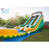 Buy cheap Commercial High Quality Giant Adults N Kids Yellow Inflatable Jungle Water from wholesalers