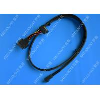 China SFF 8639 al cable atado serial de SFF 8643 SCSI, cable negro del Pin SCSI del SAS 68 wholesale