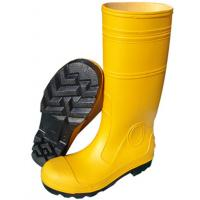 China Anti Impact Safety Rain Boots / Yellow Rubber Work Boots For Mechanical Construction wholesale