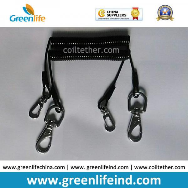 Quality Flexi Tool Safety Coiled lanyard  w/Stainless Steel Snap Hooks on each end for Clipping to Your Valuable Merchandise for sale