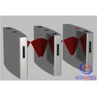 China Anti tail Security RFID Reader Pedestrian Flap Barrier , electronic turnstiles for Building Passage on sale