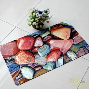 China Rectangular Coloring Rubber Floor Carpet , Rubber Under Floor Heating Mat wholesale