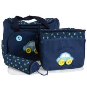 China 4 Pcs/Set Baby Diaper Nappy Bag Mummy Changing Mat +Bottle Holder Handbag Set on sale