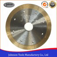 China 105mm - 350mm Sintered Ceramic Tile Saw Blades For Porcelain Cutting with Narrow Laser Cut Key slot wholesale