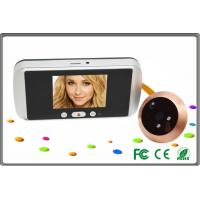 China residential intercom systems LCD digital peephole door viewer of English / French / Spanish on sale