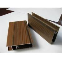 China Wooden Grain Color Aluminum Door Profile for Slid Hung Door with Punching GB/T 5237 on sale