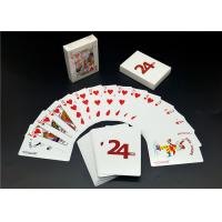 China Custom Printing Barcode 4 Color Playing Cards , Linen Finishing High End Playing Cards wholesale