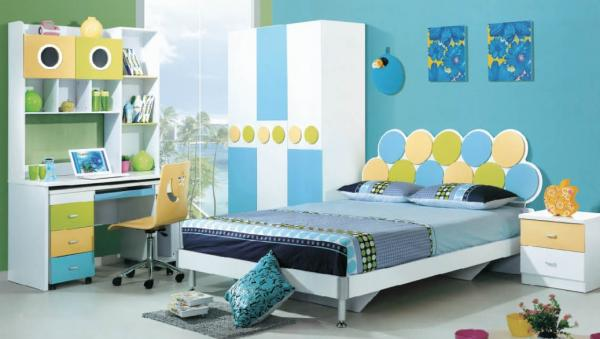 Quality modern painted MDF children bed room furniture,#816 for sale
