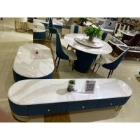 China Anti Corrosion Faux Marble Coffee Table Set , Modern Wood Coffee Table Sets wholesale