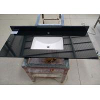 Buy cheap Black Commercial Bathroom Countertops Durable With Squared Sink from wholesalers