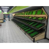 China supermarket fruit produce display wall 3 tier shelf,supermarket vegetables display wall shelves with mirror top wholesale