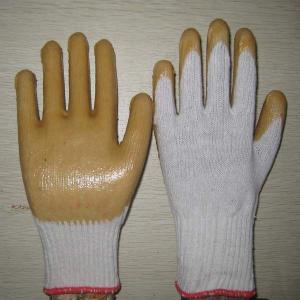 white PVC coated working gloves PG1514-1