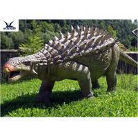 Life Size Animatronic Dinosaur Realistic Resin Waterproof Ankylosaurus Display
