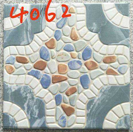 Quality Building 400x400 Floor Tiles , Decorative Blue Rustic 400mm Floor Tiles for sale