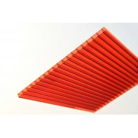 China Red Solid Polycarbonate Sheet / Durable Polycarbonate Patio Roof Panels wholesale