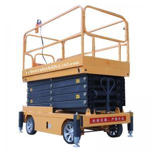 China Scissor lift platform 500kg 11m movable hydraulic aerial elevated work platform wholesale