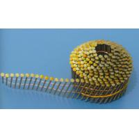 China FLAT COIL ROOFING NAILS, STEEL, YELLOW , ENOUGH WEIGHT & HIGH QUALITY on sale
