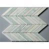 "China Ming Green Stone Mosaic Floor Tile Chevron Shape Mosaics 4"" Chips wholesale"