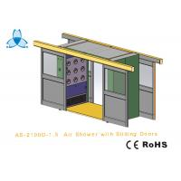 China Cargo CleanRoom Air Shower With Width 1600mm Automatic Double - Leaf Sliding Doors on sale