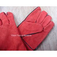 China High quality 14 Red color Cow Split Welding Gloves/Safety Gloves / Working Gloves on sale